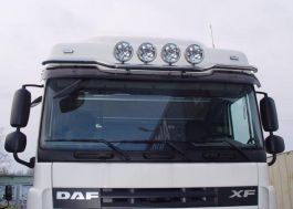 DAF XF 105 Low Roof Visor Light Bar 2006-2014. 4 Lamp Fixings. Also fits Euro 6.