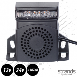 Strands Reverse Alarm With Amber LED Warning Light 92-107dB