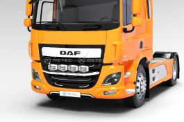 DAF CF Euro 6 - Front Grill Bar with LED's (Pre-Wired for 4 lights and 3 LED's)