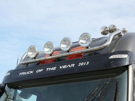 Iveco Stralis AT and Cube AT Roof Light Bar. 2002 onwards. With 4 Lamp Fixings.