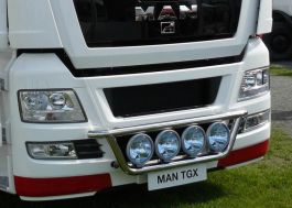MAN TGX Front Light Bar. 2007 Onwards. Pre-Wired. 4 Lamp Fixings.