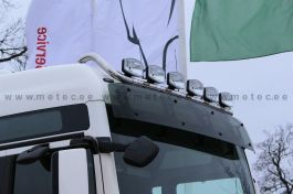 MAN TGX XLX/XXL Roof Light Bar. 2007 onwards. Pre-Wired. With LED's. Fits on Visor Brackets.