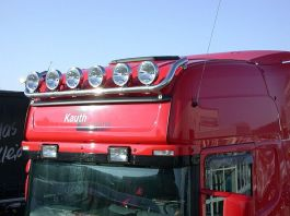 Scania R Series Roof Light Bar. 2009 Onwards. Topline Cab. Pre Wired for 6 Lamps.