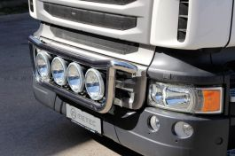 Scania R Series Front Light Bar. 2009 Onwards. Pre Wired for Round Spots.