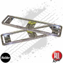 CLEARANCE Chrome Number Plate Holder - PAIR