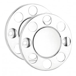 "8 Stud Closed Donut Rings Nut Covers - 19.5"" Wheel Trim (Pair)"