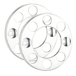 """8 Stud Open Donut Rings Nut Covers - 19.5"""" Wheel Trim (Pair)"""
