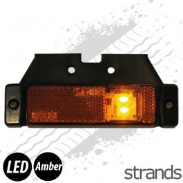 Strands LED Side Marker with Reflector - Amber