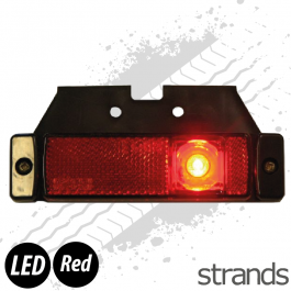 Strands LED Side Marker with Reflector - Red