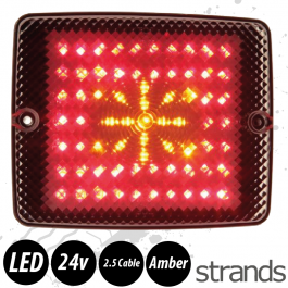 Strands LED Block Lamp - Flashing Amber