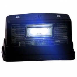2 LED Number Plate Light - Black