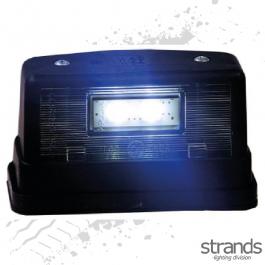2 LED Number Plate Light - Black