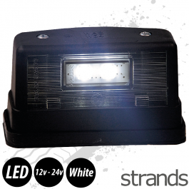 Strands 2 LED Number Plate Light - Black