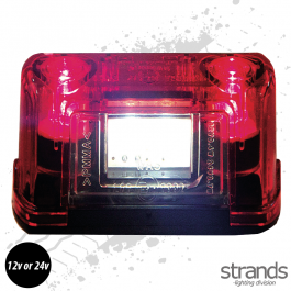 3 LED Number Plate / Position Light Red 12v-24V