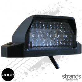 4 LED Number Plate / Position Light Black 24V
