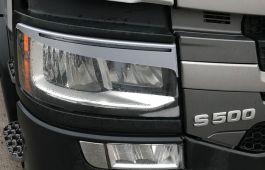 Scania Next Generation Headlight Eyelids / Eyebrows, Silver/Grey (Pair)
