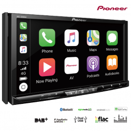 Pioneer Touchscreen Headunit With DAB+, Truck Sat Nav, WiFi, Bluetooth, Apple CarPlay, Dual USB & Wireless Mirroring