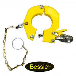 Bessie Service Exchange Lock Yellow With Chain