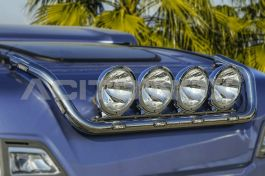 Stainless Steel Mirrored Roof Light Bar Suitable For Scania S Series - Short Version