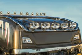 Stainless Steel Mirrored Roof Light Bar Suitable For Scania S Series - Medium Version