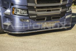 Stainless Steel Mirrored Big Bumper Bar Includes Fitting Kit Suitable For Scania S Series