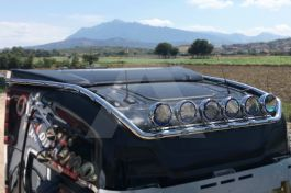 Stainless Steel Mirrored Roof Light Bar Suitable For Scania S Series - Extra Long Version