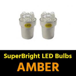 Amber BA15s 5w LED Bulbs (Pair) 24v for Trucks