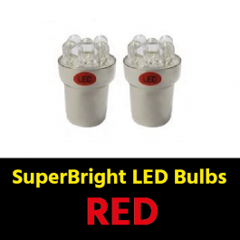 Red BA15s 5w LED Bulbs (Pair) 24v for Trucks