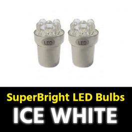 Ice White BA15s 5w LED Bulbs (Pair) 24v for Trucks