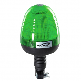 Warrior Low Profile Green LED Beacon 12/24 Volt - Pipe Mount