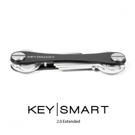 KeySmart 2.0 Extended Black for 2-8 Keys