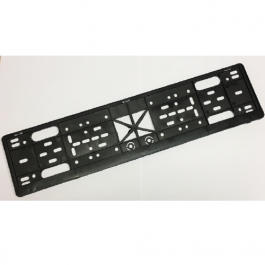 CLEARANCE Universal Number Plate Holder, Licence Plate Frame, Black ABS Plastic