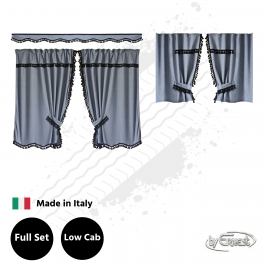 Truck Cab Curtains, New Dream to suit Low Roof Cabs - Grey
