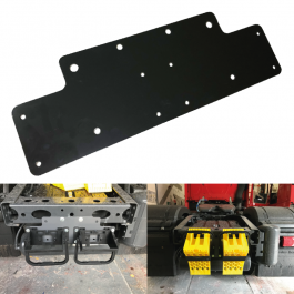 Aluminium Chock Plate Holder (Universal Fit) - Wheel Chock Holder for back of chassis