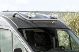 Metec Citroen Jumper (07-) - Frontbar Lamp Holder For Roof - With Cables and Clamps