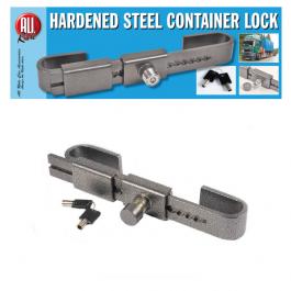 Hardened Steel Container lock, trailer door lock, anti-theft device