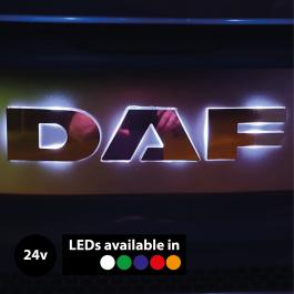 Backlit, LED Front Name Badge Upgrade suitable for DAF Trucks, 24v