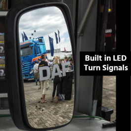 Mirrors with Built in LED Turn Signals suitable for DAF Vehicles