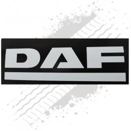 DAF Black/White Mudflaps (Pair)