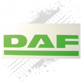 DAF White/Green Mudflaps (Pair)