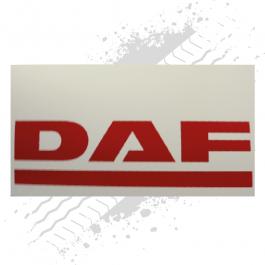 DAF White/Red Mudflaps (Pair)