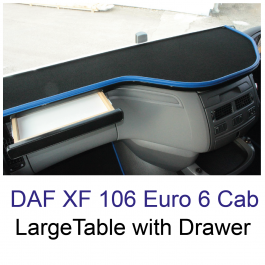 DAF XF 106 Large Table with Drawer