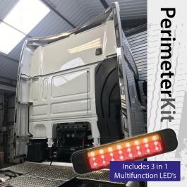 Perimeter Kit to suit DAF XF Super Space Cab complete with 3 in 1 Multifunction LED's