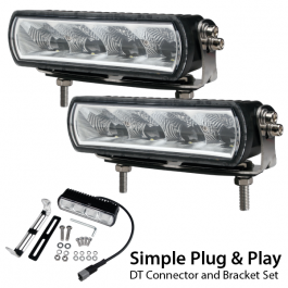 Duo LED Bar Kit, E Approved, Plug and Play, Harness Inc. 12/24v