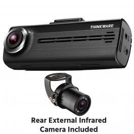 THINKWARE F200 Dash Cam Full HD 1080p Format Free 140 Degree Wide Angle View - Includes External Rear Camera