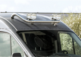 Metec Fiat Ducato (07-) - Frontbar Lamp Holder For Roof, With Cables and Clamps