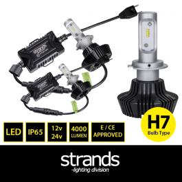LED Headlight Conversion Kit, H7, 12/24v, Fully E Approved