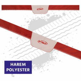 Truck Windscreen Pelmet, Universal - Red / Cream (Harem Style)