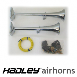 "Hadley 19"" & 22"" Twin Airhorns. Inc. Fitting Kit."