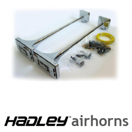 "Hadley 29"" & 29"" Twin Airhorns. Inc. Fitting kit."